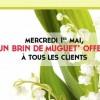 Quick offre du muguet pour le 1er Mai