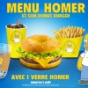 Quick X Les Simpson : Menu Homer, Donut Burger et verres collector