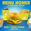 Quick X Les Simpson : Menu Homer, Donut Burger et verres collector