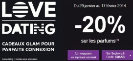 Saint Valentin 2014 : -20% chez Sephora pour un cadeau qui sent bon