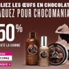 Pâques 2014 : -50% sur la gamme Chocomania de The Body Shop