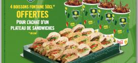 Coupe du Monde 2014 : Subway vous propose des plateaux gourmands à partager en direct