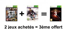 Amazon – promo : 2 jeux achetés, le 3ème offert (PS3, PS4, Wii, Xbox)
