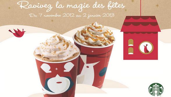 Nouveautés de Noël chez Starbucks