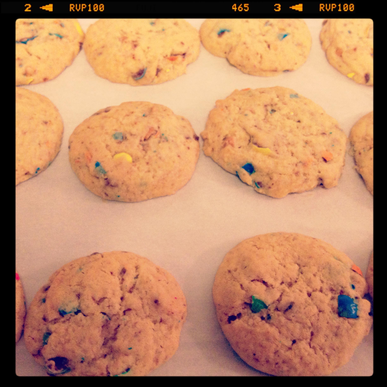 Cookies US aux m&m's