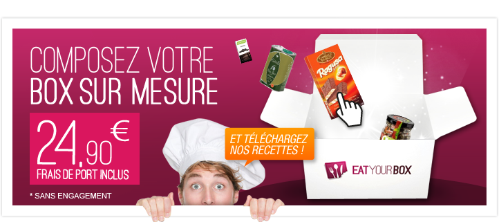 Box cuisine sur mesure Eat Your Box