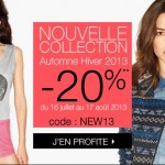 -20% sur la nouvelle collection Etam