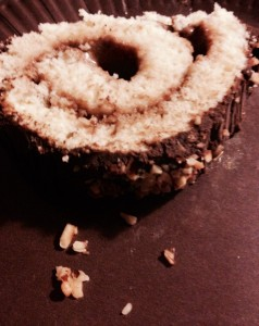 Bûche roulée chocolat praliné